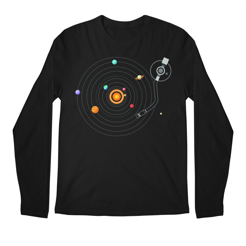 OUR SOLAR SYSTEM IS A VINYL Men's Longsleeve T-Shirt by kooky love's Artist Shop