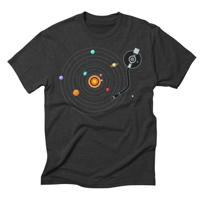 OUR SOLAR SYSTEM IS A VINYL Men's Triblend T-Shirt by kooky love's Artist Shop