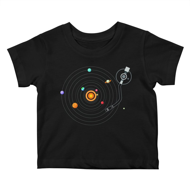 OUR SOLAR SYSTEM IS A VINYL Kids Baby T-Shirt by kooky love's Artist Shop