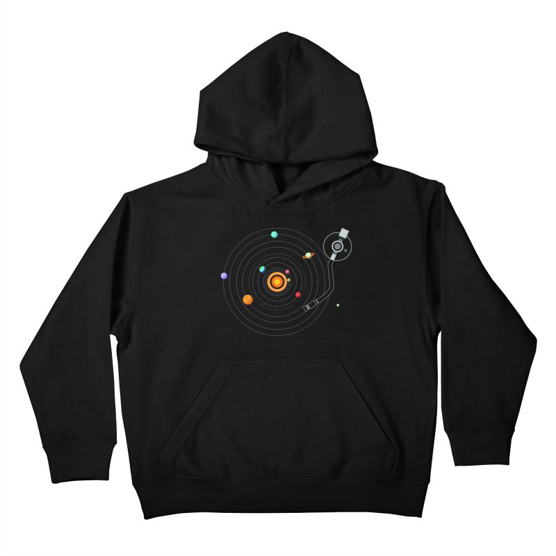 OUR SOLAR SYSTEM IS A VINYL Kids Pullover Hoody by kooky love's Artist Shop