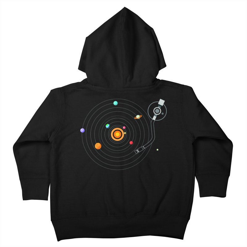 OUR SOLAR SYSTEM IS A VINYL Kids Toddler Zip-Up Hoody by kooky love's Artist Shop