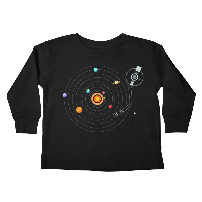 OUR SOLAR SYSTEM IS A VINYL Kids Toddler Longsleeve T-Shirt by kooky love's Artist Shop