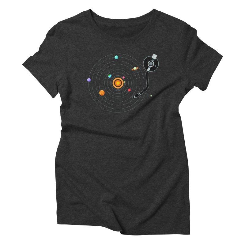 OUR SOLAR SYSTEM IS A VINYL Women's Triblend T-shirt by kooky love's Artist Shop