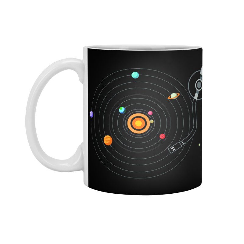 OUR SOLAR SYSTEM IS A VINYL Accessories Mug by kooky love's Artist Shop