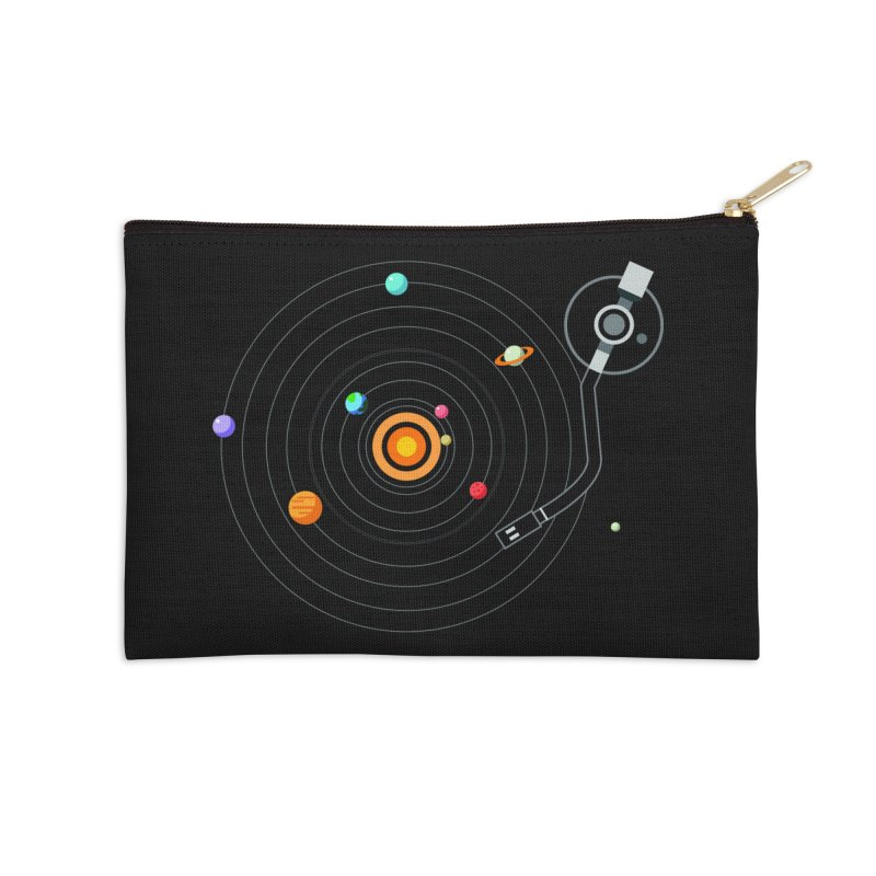 OUR SOLAR SYSTEM IS A VINYL Accessories Zip Pouch by kooky love's Artist Shop