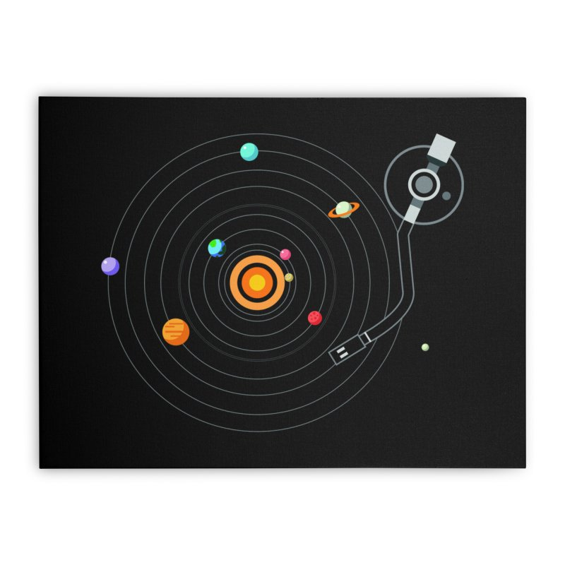 OUR SOLAR SYSTEM IS A VINYL Home Stretched Canvas by kooky love's Artist Shop