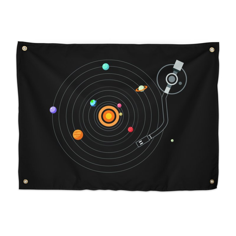 OUR SOLAR SYSTEM IS A VINYL Home Tapestry by kooky love's Artist Shop