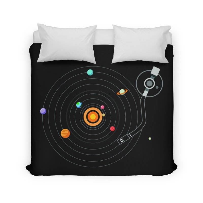 OUR SOLAR SYSTEM IS A VINYL Home Duvet by kooky love's Artist Shop
