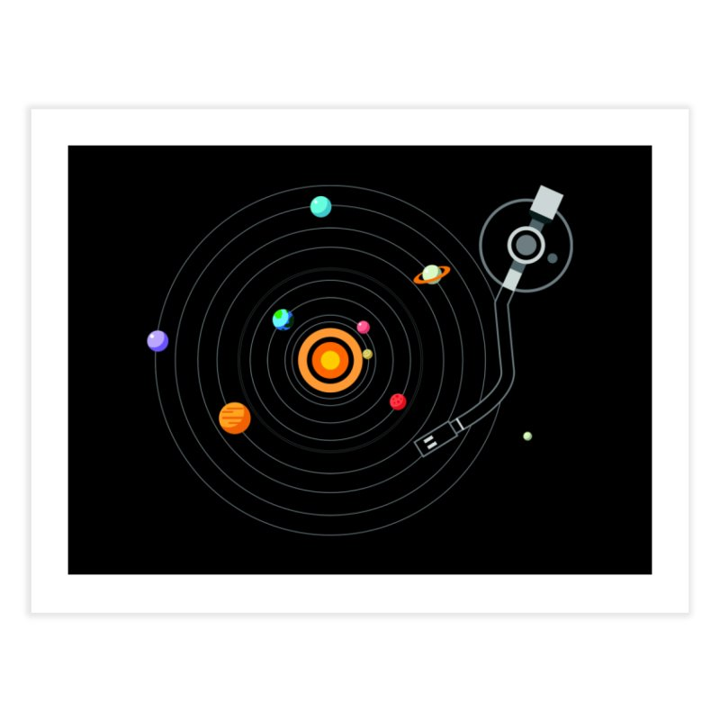 OUR SOLAR SYSTEM IS A VINYL Home Fine Art Print by kooky love's Artist Shop
