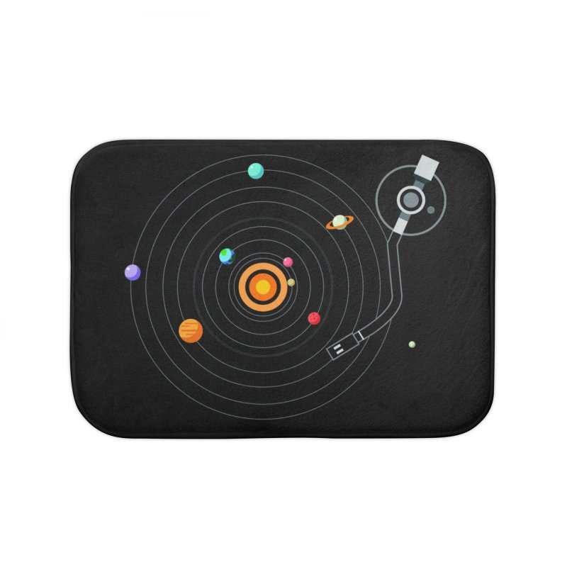 OUR SOLAR SYSTEM IS A VINYL Home Bath Mat by kooky love's Artist Shop