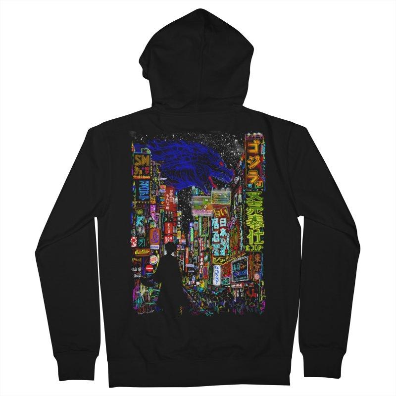 Kaiju City Men's Zip-Up Hoody by kooky love's Artist Shop