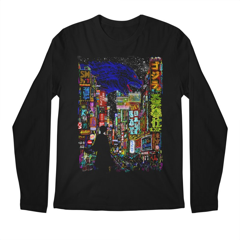 Kaiju City Men's Longsleeve T-Shirt by kooky love's Artist Shop