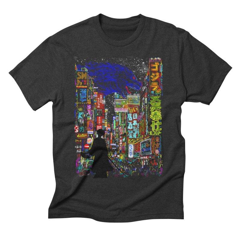 Kaiju City Men's Triblend T-Shirt by kooky love's Artist Shop