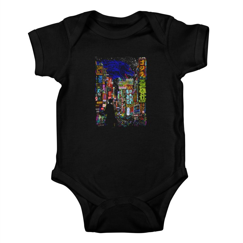 Kaiju City Kids Baby Bodysuit by kooky love's Artist Shop