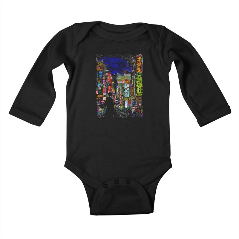Kaiju City Kids Baby Longsleeve Bodysuit by kooky love's Artist Shop