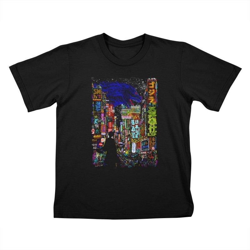 Kaiju City Kids Toddler T-Shirt by kooky love's Artist Shop
