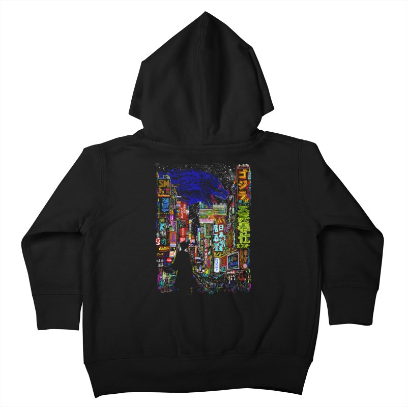 Kaiju City Kids Toddler Zip-Up Hoody by kooky love's Artist Shop