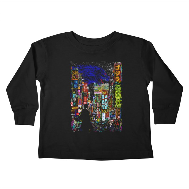 Kaiju City Kids Toddler Longsleeve T-Shirt by kooky love's Artist Shop