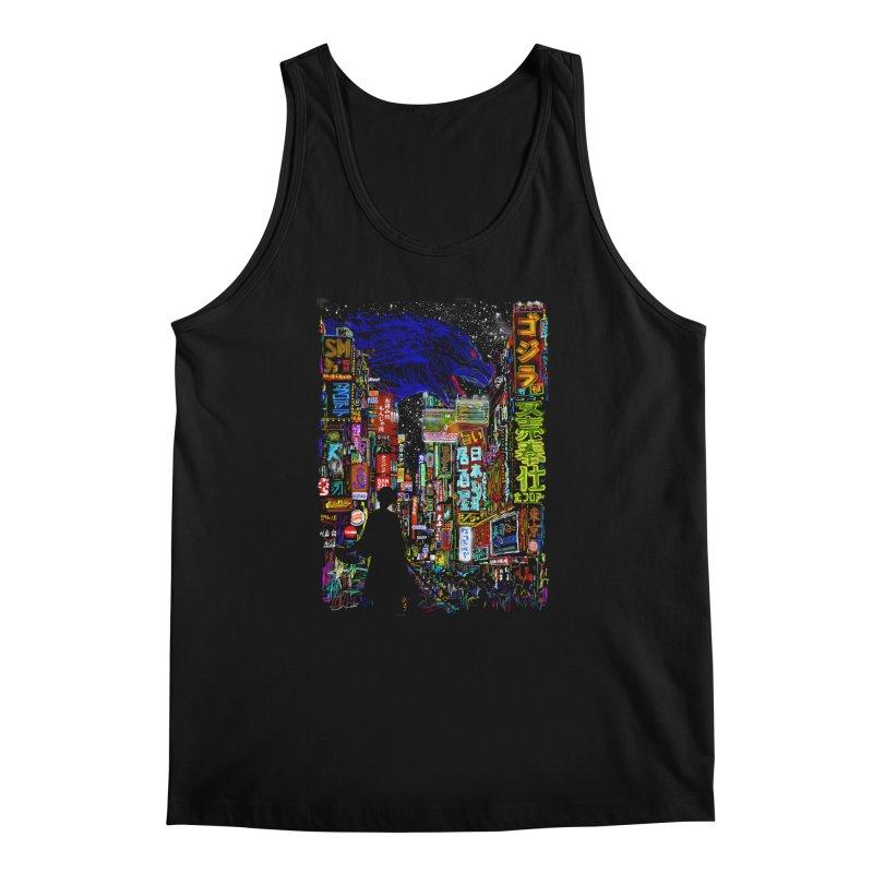 Kaiju City Men's Tank by kooky love's Artist Shop