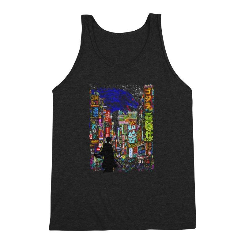 Kaiju City Men's Triblend Tank by kooky love's Artist Shop