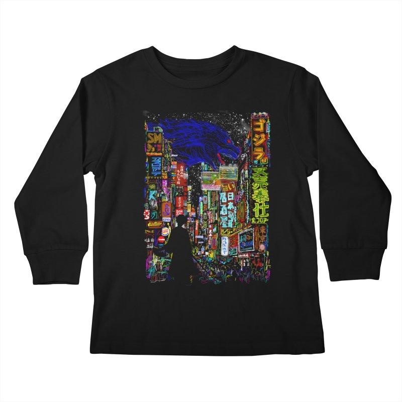 Kaiju City Kids Longsleeve T-Shirt by kooky love's Artist Shop