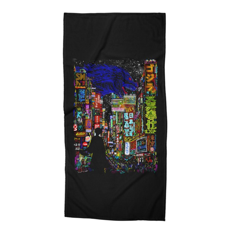 Kaiju City Accessories Beach Towel by kooky love's Artist Shop