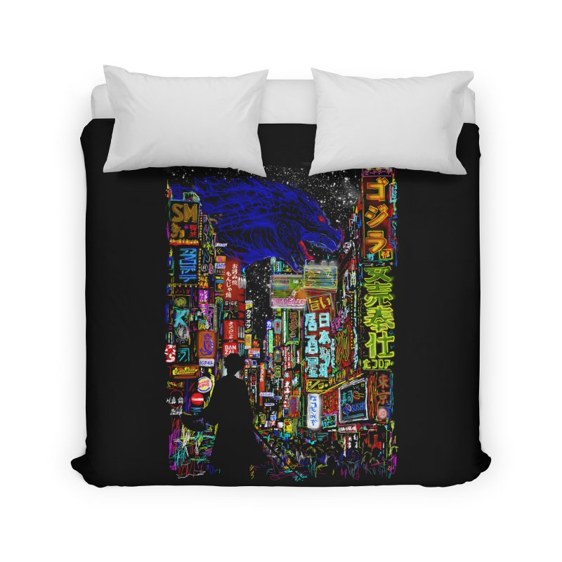 Kaiju City Home Duvet by kooky love's Artist Shop