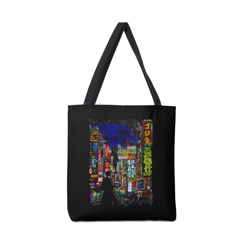 Kaiju City Accessories Bag by kooky love's Artist Shop