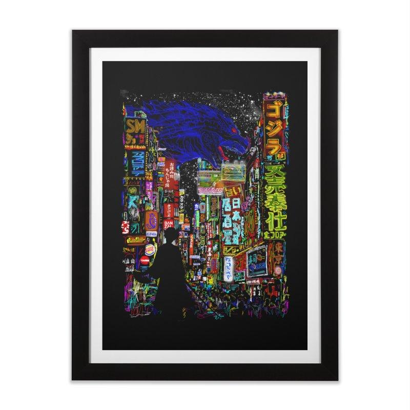 Kaiju City Home Framed Fine Art Print by kooky love's Artist Shop