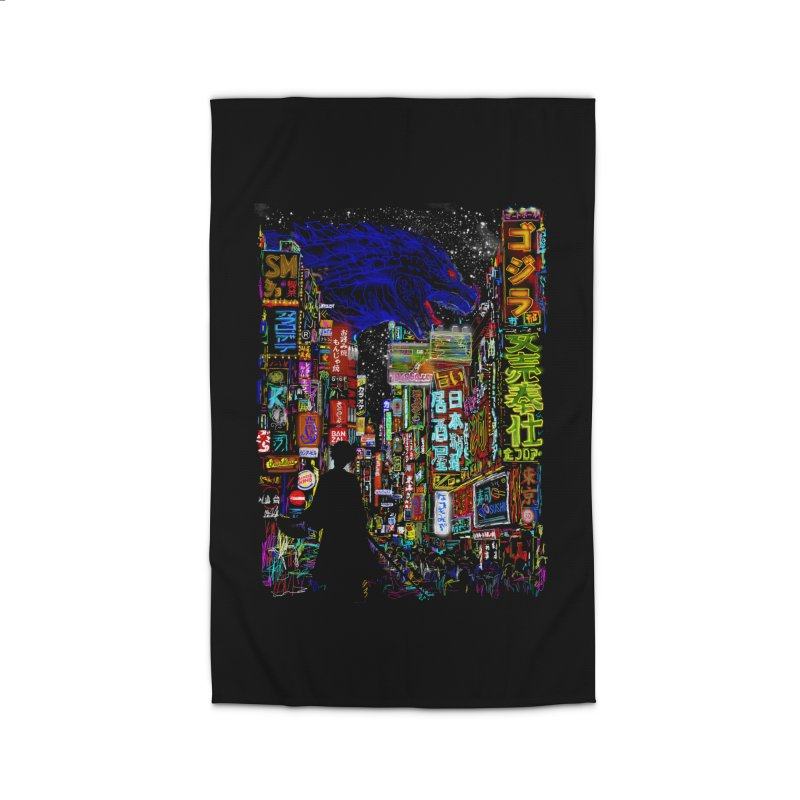 Kaiju City Home Rug by kooky love's Artist Shop
