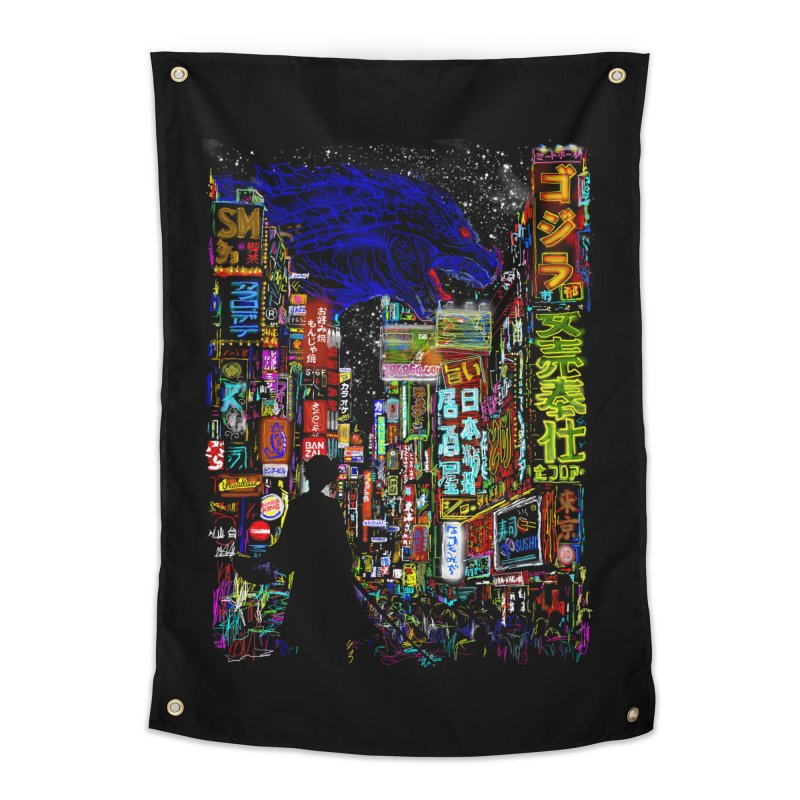 Kaiju City Home Tapestry by kooky love's Artist Shop