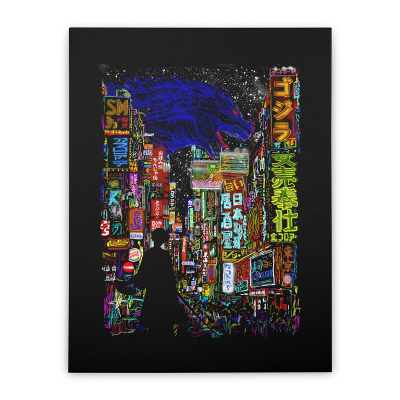 Kaiju City Home Stretched Canvas by kooky love's Artist Shop