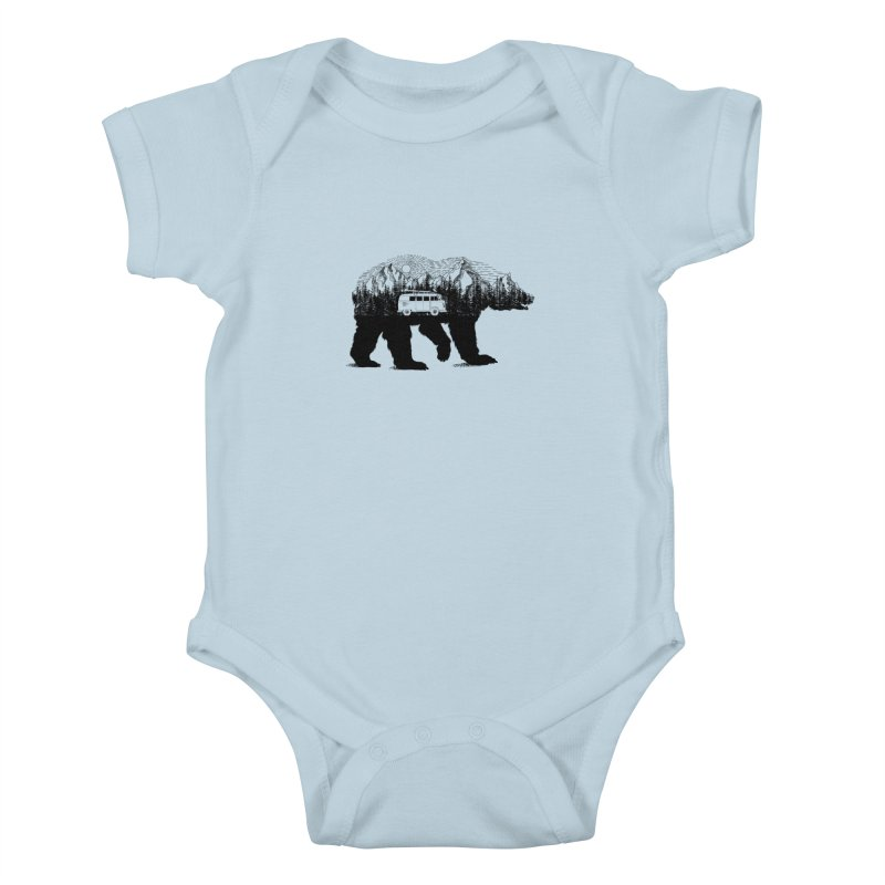 The Wanderer Kids Baby Bodysuit by kooky love's Artist Shop