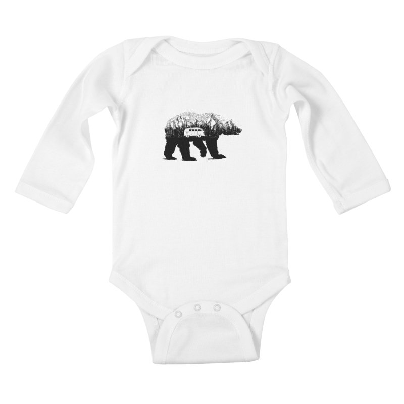 The Wanderer Kids Baby Longsleeve Bodysuit by kooky love's Artist Shop
