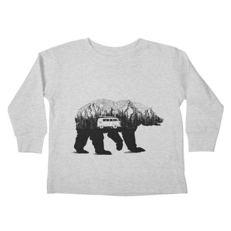 The Wanderer Kids Toddler Longsleeve T-Shirt by kooky love's Artist Shop
