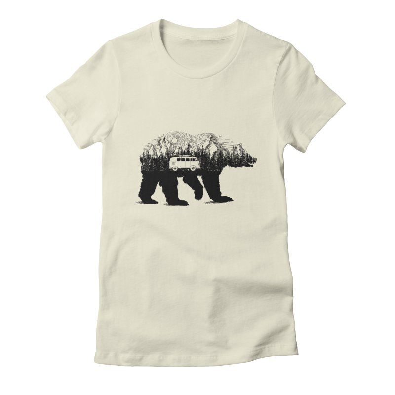 The Wanderer Women's Fitted T-Shirt by kooky love's Artist Shop