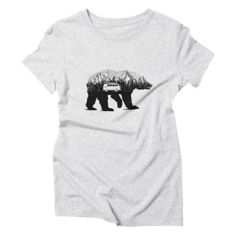 The Wanderer Women's Triblend T-shirt by kooky love's Artist Shop