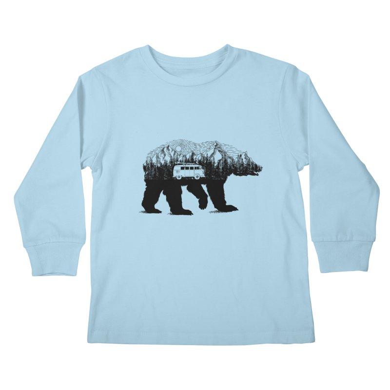 The Wanderer Kids Longsleeve T-Shirt by kooky love's Artist Shop