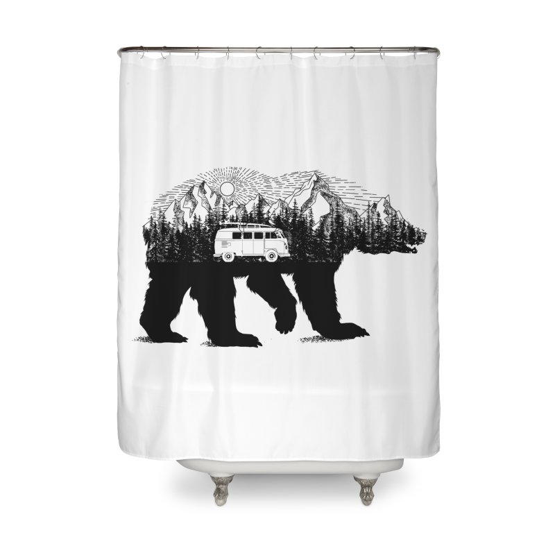 The Wanderer Home Shower Curtain by kooky love's Artist Shop