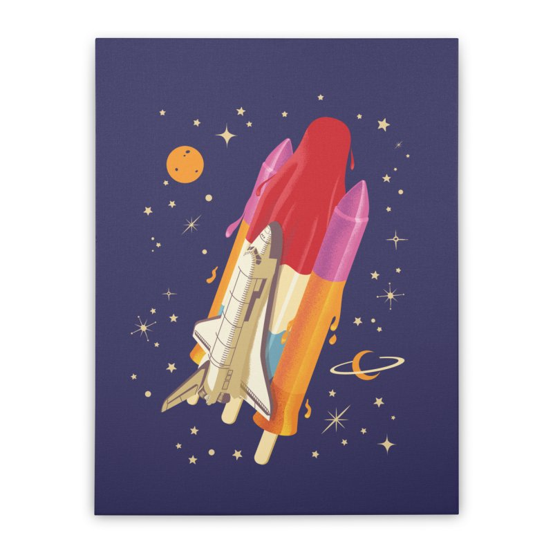 Popsicle Mission Home Stretched Canvas by kooky love's Artist Shop