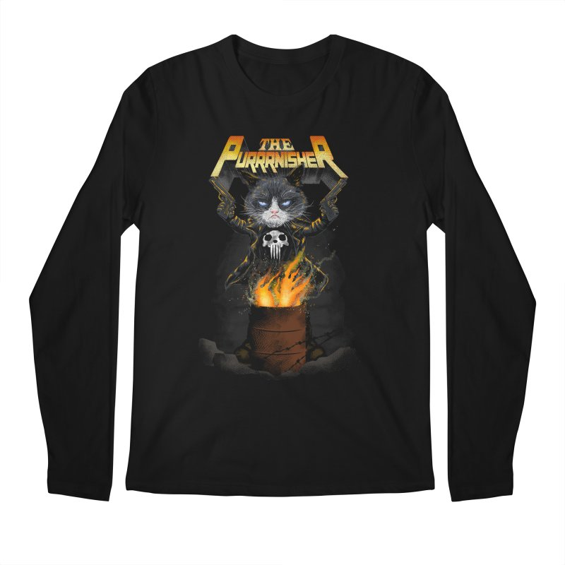 The Purrrnisher Men's Longsleeve T-Shirt by kooky love's Artist Shop