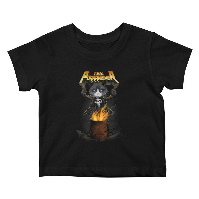 The Purrrnisher Kids Baby T-Shirt by kooky love's Artist Shop