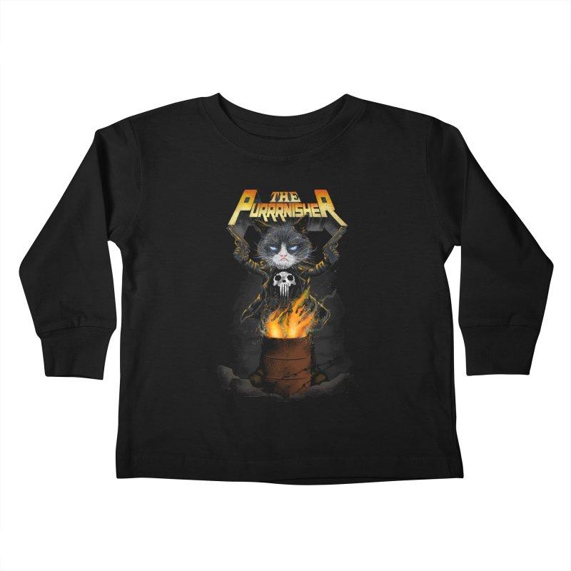 The Purrrnisher Kids Toddler Longsleeve T-Shirt by kooky love's Artist Shop