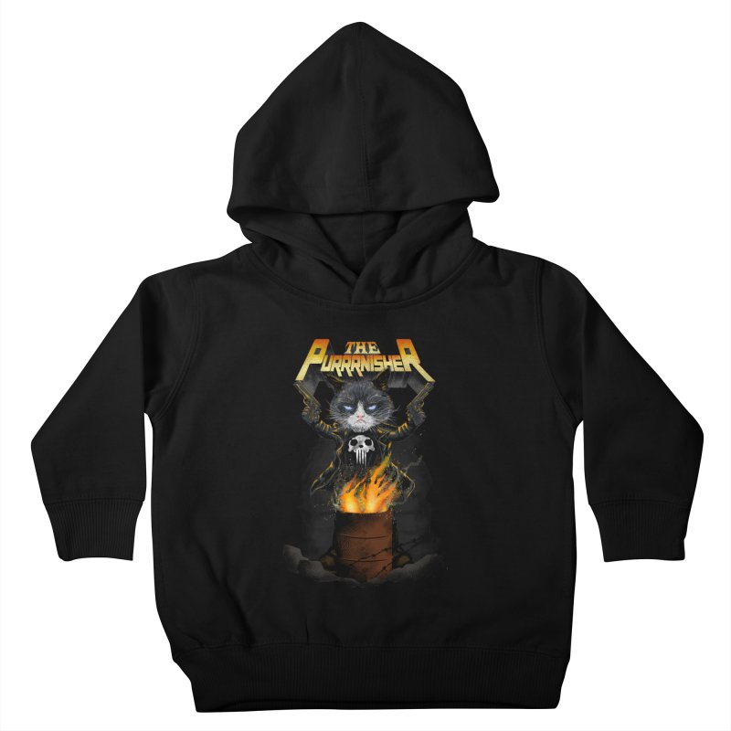 The Purrrnisher Kids Toddler Pullover Hoody by kooky love's Artist Shop