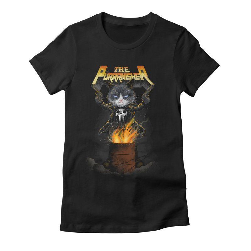 The Purrrnisher Women's Fitted T-Shirt by kooky love's Artist Shop