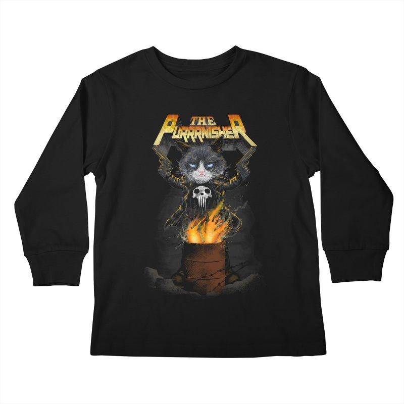 The Purrrnisher Kids Longsleeve T-Shirt by kooky love's Artist Shop