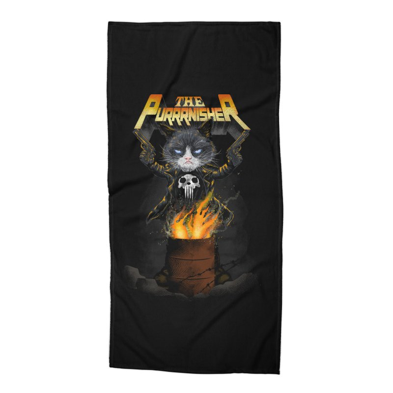 The Purrrnisher Accessories Beach Towel by kooky love's Artist Shop