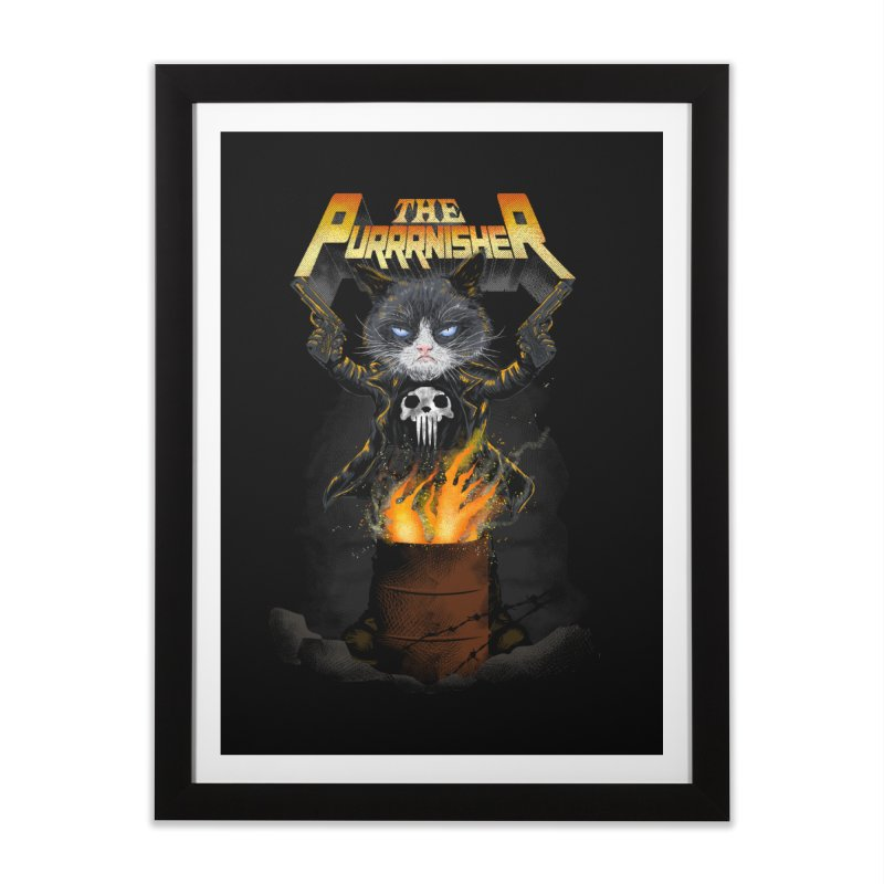 The Purrrnisher Home Framed Fine Art Print by kooky love's Artist Shop