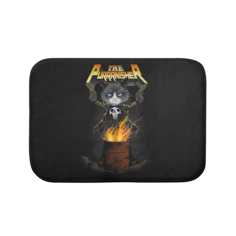 The Purrrnisher Home Bath Mat by kooky love's Artist Shop