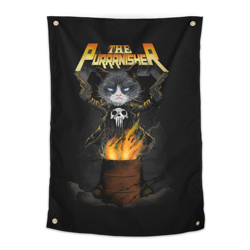 The Purrrnisher Home Tapestry by kooky love's Artist Shop